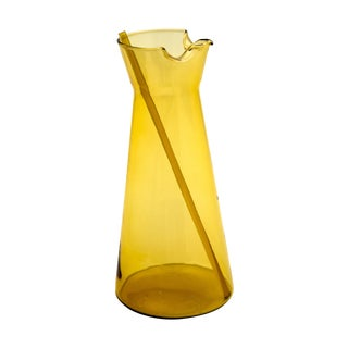 Holmegaard Amber Glass Pitcher