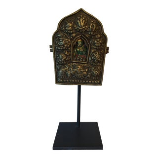 Antique Mounted Tibetan Gau For Sale