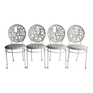 Woodard Mid-Century Garden Chairs - Set of 4