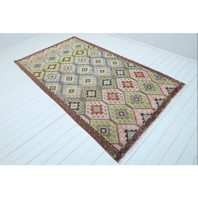 This beautiful embroidered rug from westhern of turkey. Sardes nomads kilim weaved with traditional turkish kilim...