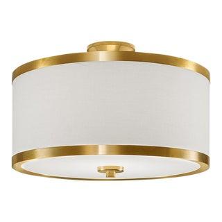 Atlanta Brushed Brass Ceiling Light For Sale