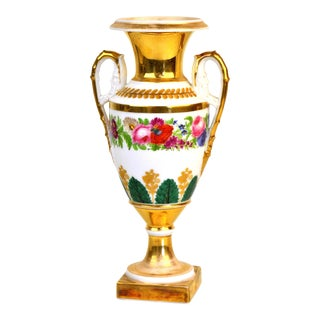 Old Paris Porcelain Neoclassical Vase, Early 19th Century For Sale