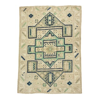 *Naqshi 4x5 Unusual Elegant Turkish Oushak Style Area Rug For Sale