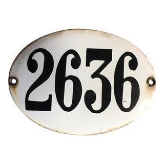 Old Argentinian Enamel Street Number Sign For Sale