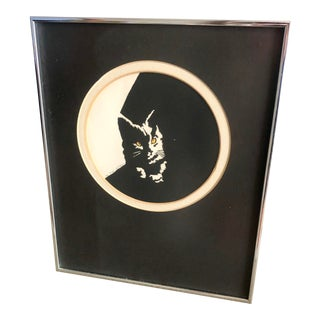 Modern Signed Madge Dickman Kitty Cat Lithograph For Sale