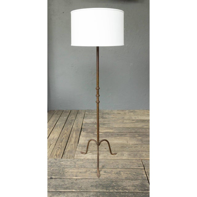 French Iron Floor Lamp With a Tripod Base - Image 2 of 5
