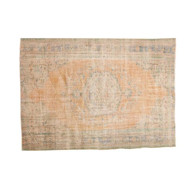"Vintage Distressed Oushak Carpet - 6'3"" X 8'6"" - Image 11 of 11"