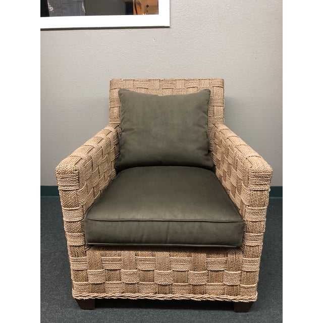 Ethan Allen Balta Seagrass Armchair For Sale - Image 9 of 9