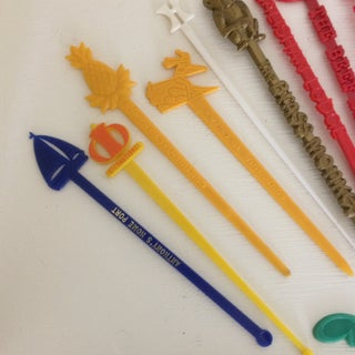 Vintage Collection of Assorted Plastic Swizzle Sticks - Group of 42 Preview