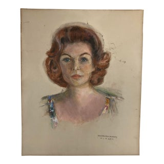 Traditional Pastel Portrait of a Woman by Frank Richardson Murray For Sale