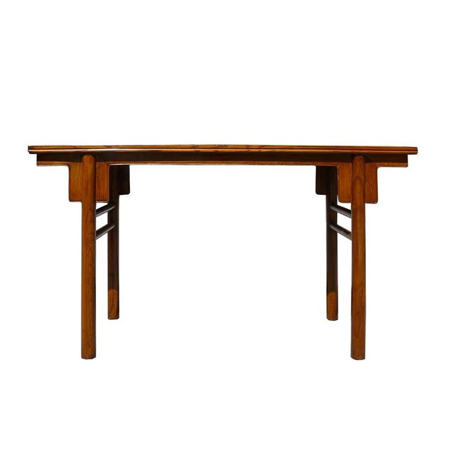 Chinese Natural Wood Altar Console Table - Image 5 of 5