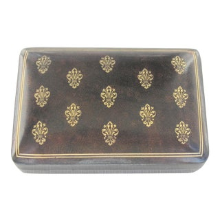 1970s Italian Leather Card Box For Sale