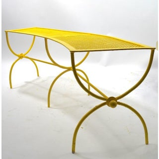 Curved Garden Patio Benches by Salterini Pair Available Preview