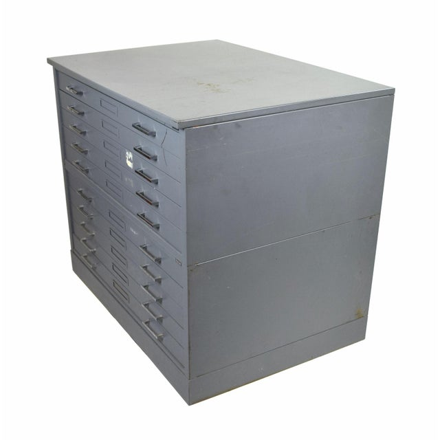 Vintage Mayline Industrial Steel Map Case Flat File Cabinet For Sale In Chicago - Image 6 of 8