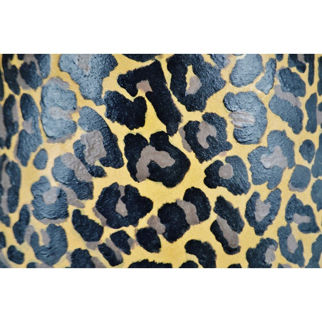 Vintage Hand Painted Animal Print Lamp Shade For Sale - Image 9 of 13