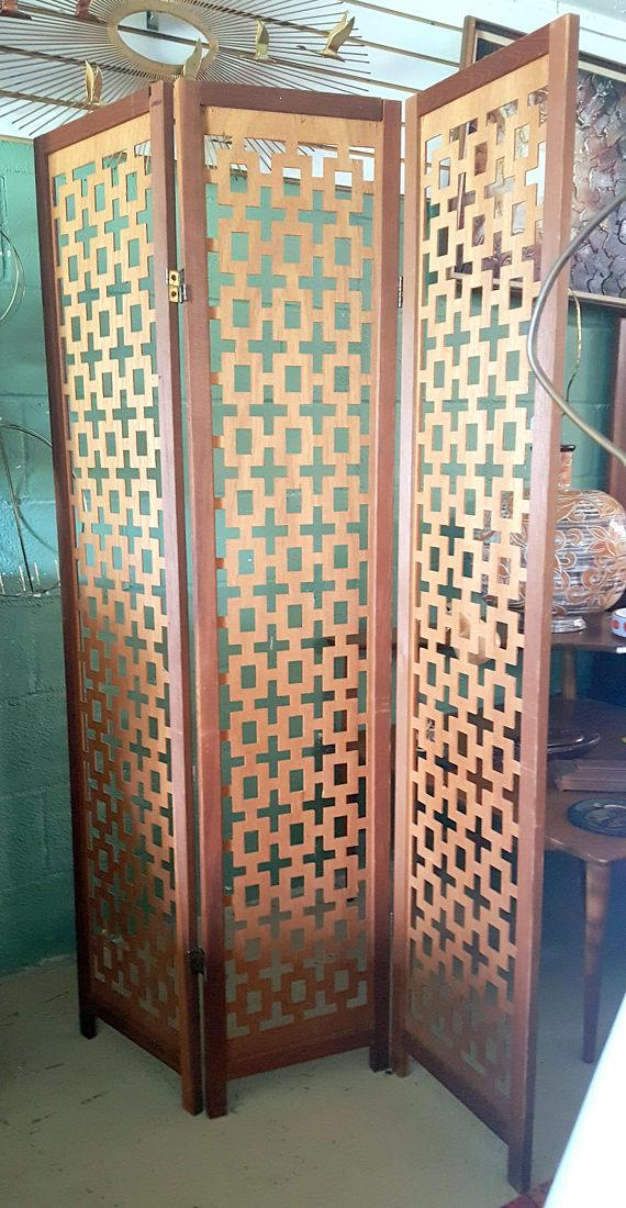Vintage Wooden Room Divider Privacy Screen Chairish