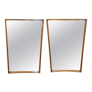 Scandinavian Modern Teak Mirrors by Pedersen & Hansen, Denmark - a Pair For Sale