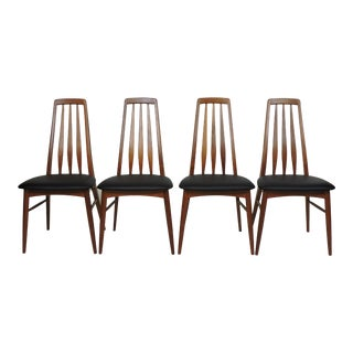 1960s Mid-Century Danish Modern Teak Eva Dining Chairs by Niels Koefoed - Set of 4 For Sale