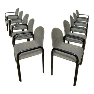 Set of Ten Dining Chairs by Gae Aulenti for Knoll International, Signed, 1975s For Sale
