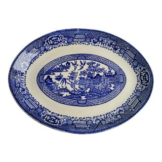 Oval Blue Willow Platter