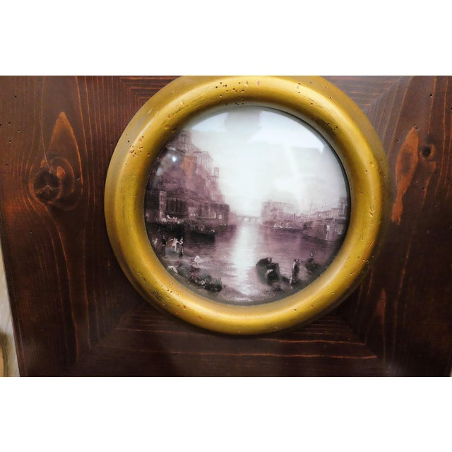 English Traditional J. M. W. Turner Picturesque Scene With Convex Glass For Sale - Image 3 of 5
