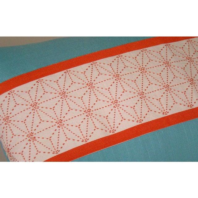 2010s Japanese Sashiko Obi Pillow Cover For Sale - Image 5 of 9