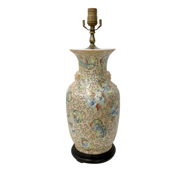 Vintage Chinese Blossoms Vase Lamp Chairish
