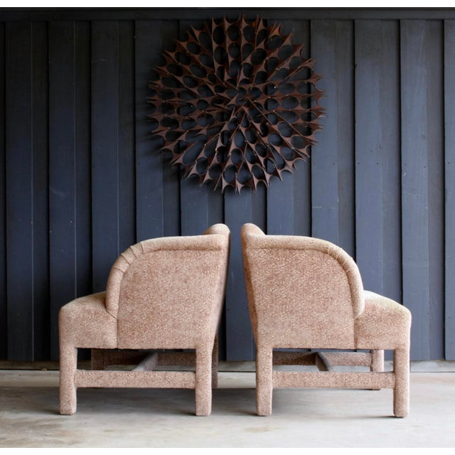 Textile 1980's Contemporary Chairs, a Pair For Sale - Image 7 of 13