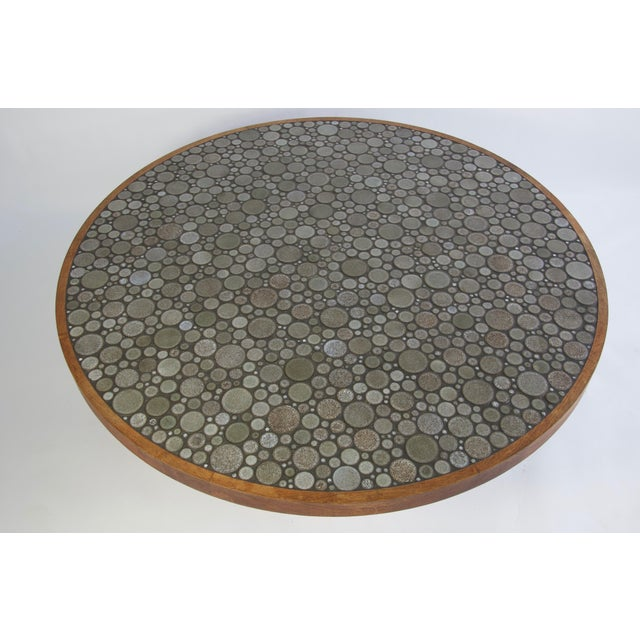 Mid 20th Century Ceramic Tile-Top Coffee Table by Gordon and Jane Martz For Sale - Image 5 of 7