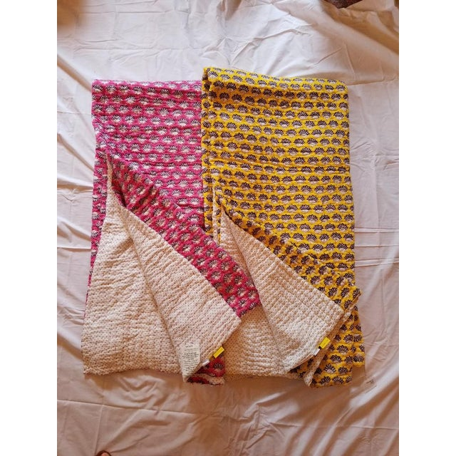 Yellow Roberta Roller Rabbit Obab Queen Quilt For Sale - Image 8 of 8