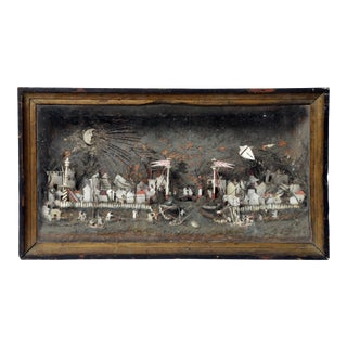 19th Century Tourist Diorama of Port of Canton in China For Sale