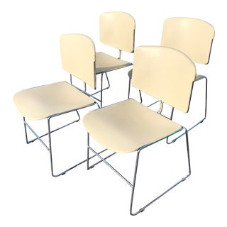 1980s Vintage Stacking Steelcase Chairs- Set of 4 For Sale
