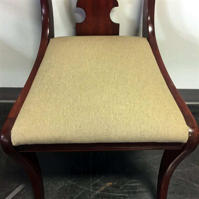 Brown Vintage Willett Solid Cherry Empire Style Dining Chairs - Set of 6 For Sale - Image 8 of 11