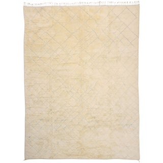 Organic Modern Style Contemporary Moroccan Rug - 10′4″ × 13′11″ For Sale