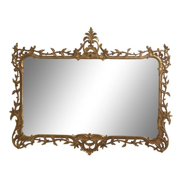 Carvers Guild Highly Carved Frame Gold Mirror For Sale - Image 11 of 11