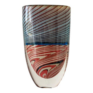 Superb Murano Romano Dona for Cenedese Glass Vase For Sale