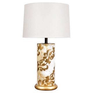 Vintage Itailan Giltwood Table Lamp For Sale