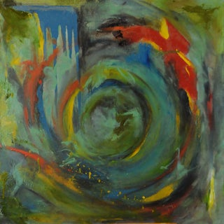 """""""All the Secrets I'm Trying to Keep"""" Contemporary Abstract Mixed-Media Painting For Sale"""