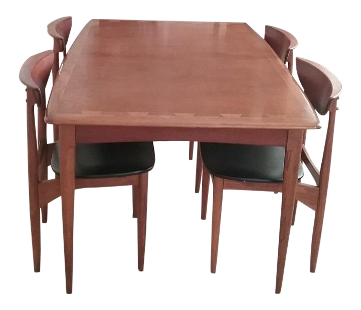 Lane Acclaim Dining Table \u0026 Lane Perception Chairs - Set ...  sc 1 st  Chairish : dinner table and chairs set - pezcame.com