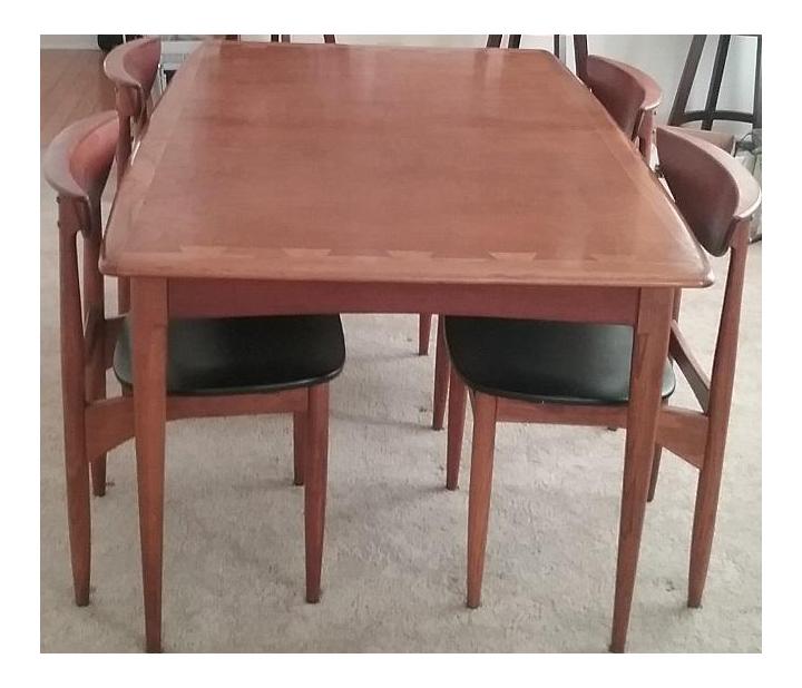 Lane Acclaim Dining Table \u0026 Lane Perception Chairs - Set ...  sc 1 st  Chairish & Vintage \u0026 Used Dining Table \u0026 Chair Sets | Chairish