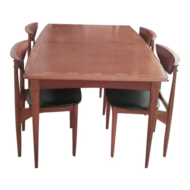 Lane Acclaim Dining Table & Lane Perception Chairs - Set of 5 For Sale