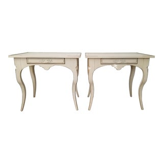 French Neoclassical Style Baker Furniture Side Tables a Pair . For Sale