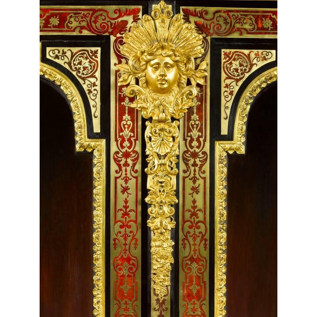 Stamped Boulle Cabinet by Nicolas Sageot For Sale - Image 4 of 7