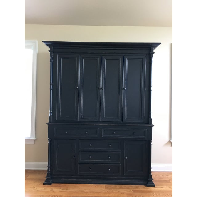 Rustic Old Biscayne Reilly Rustic Black Plasma Tv Cabinet For Sale - Image 3 of 3