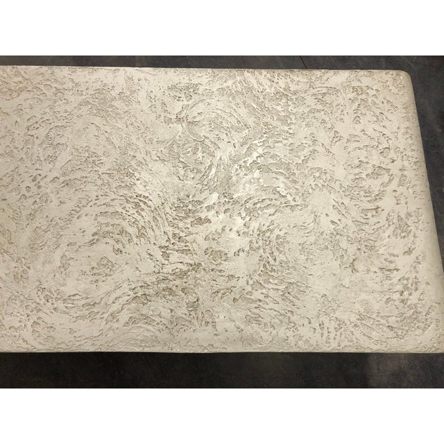 1980s 1980's Plaster Coffee Table/Bench For Sale - Image 5 of 8