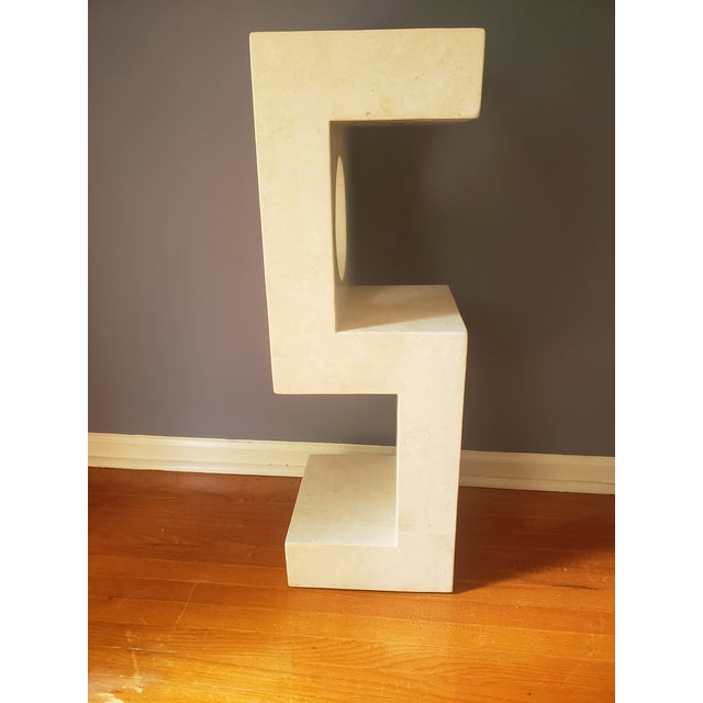 Contemporary 1980s Sculptural Tessellated Stone Display Pedestal For Sale - Image 3 of 13