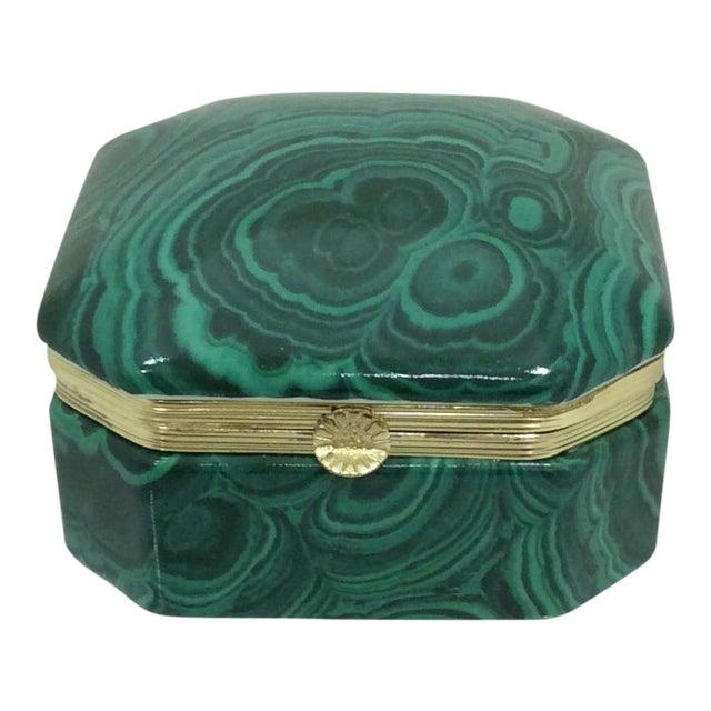 Fredrick Cooper Faux Malachite Box - Image 1 of 8