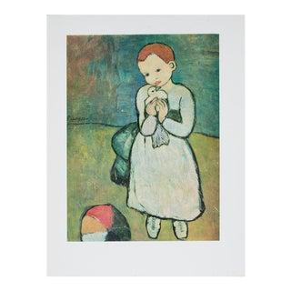 1971 Picasso l'Enfant Au Pigeon Print