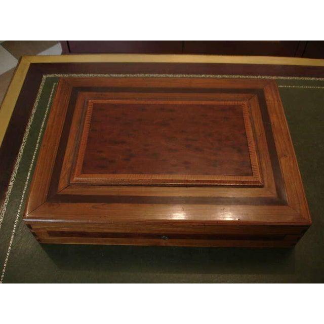 Treasure--Cuban Wood Cigar Humidor Cuba's Coat of Arms- circa 1940---Provenance For Sale - Image 4 of 9