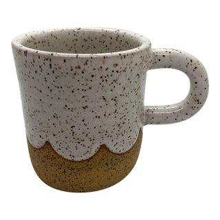 Handmade Ceramic Mugs With White Scallop Design - A Pair